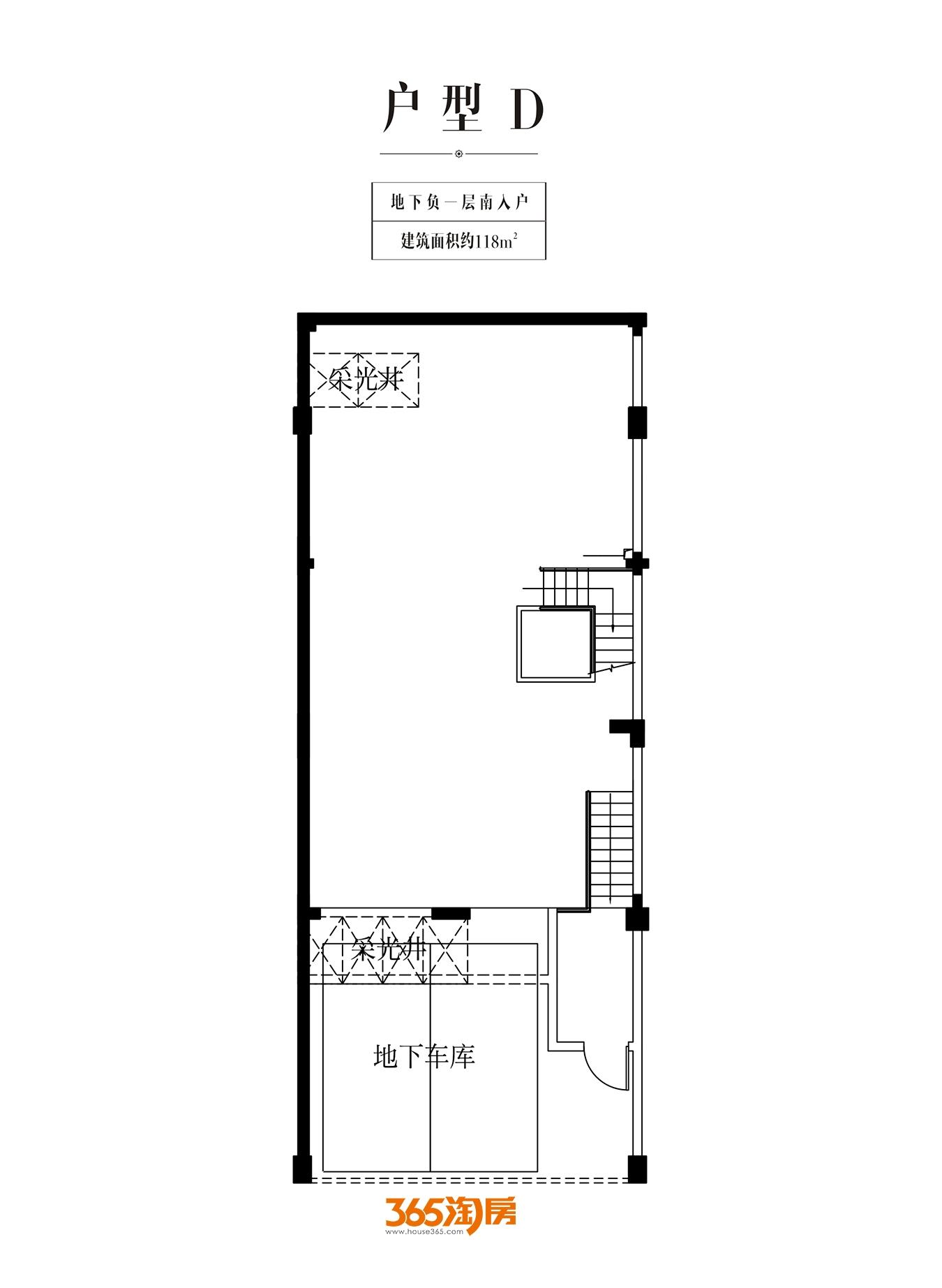 金科半岛壹号别墅地下负一层南入户D户型总面积361㎡