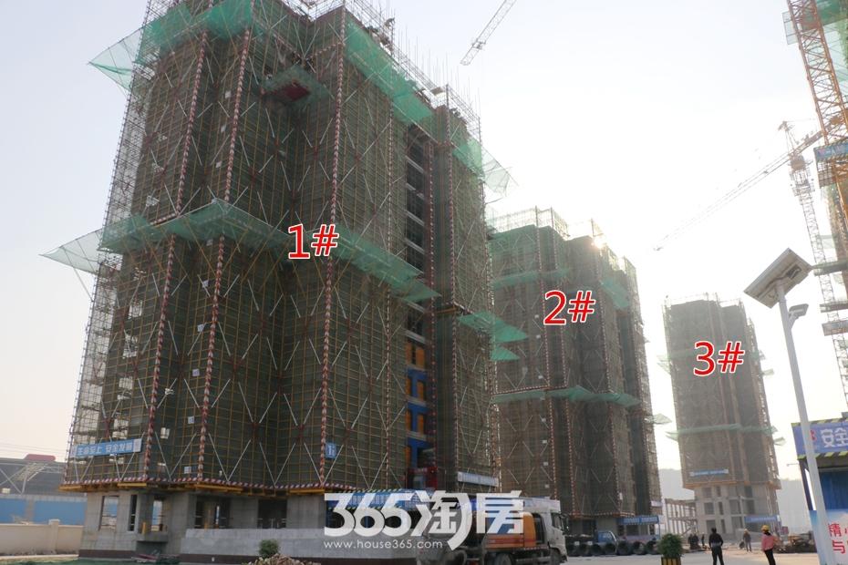 皖新春江明月1#2#3#工程进度(2018.10月摄)