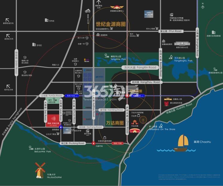 新城滨湖云境交通图