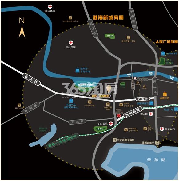 融创淮海壹号交通图