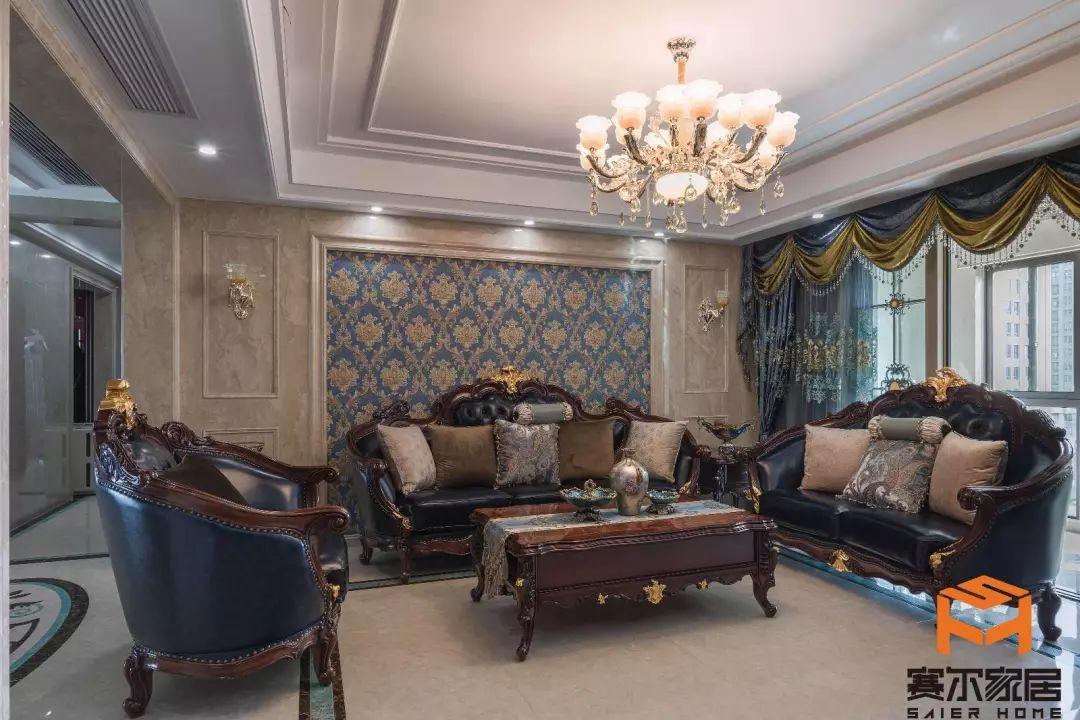 客厅案例|客厅装修设计|法式客厅