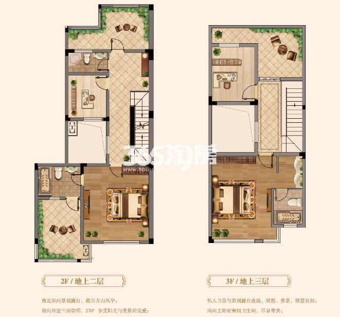 伴山香槟园B户型[2/3/4层]