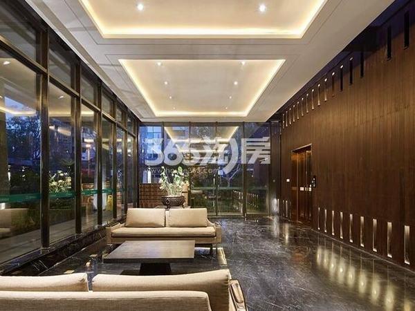 万科大明宫售楼部接待区实景图(2017.1.3)