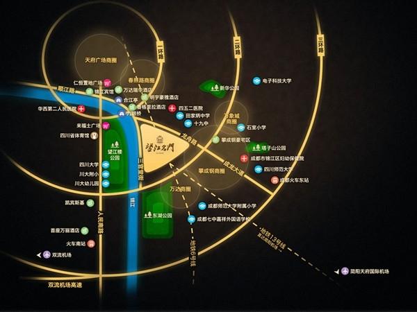 望江名门交通图
