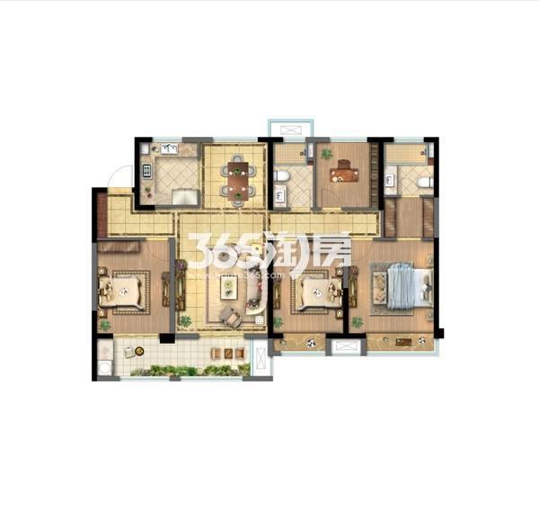 龙湖九墅二期高层138平户型图