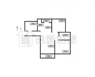 富力城3室2厅1卫102平方2013年产权房精装