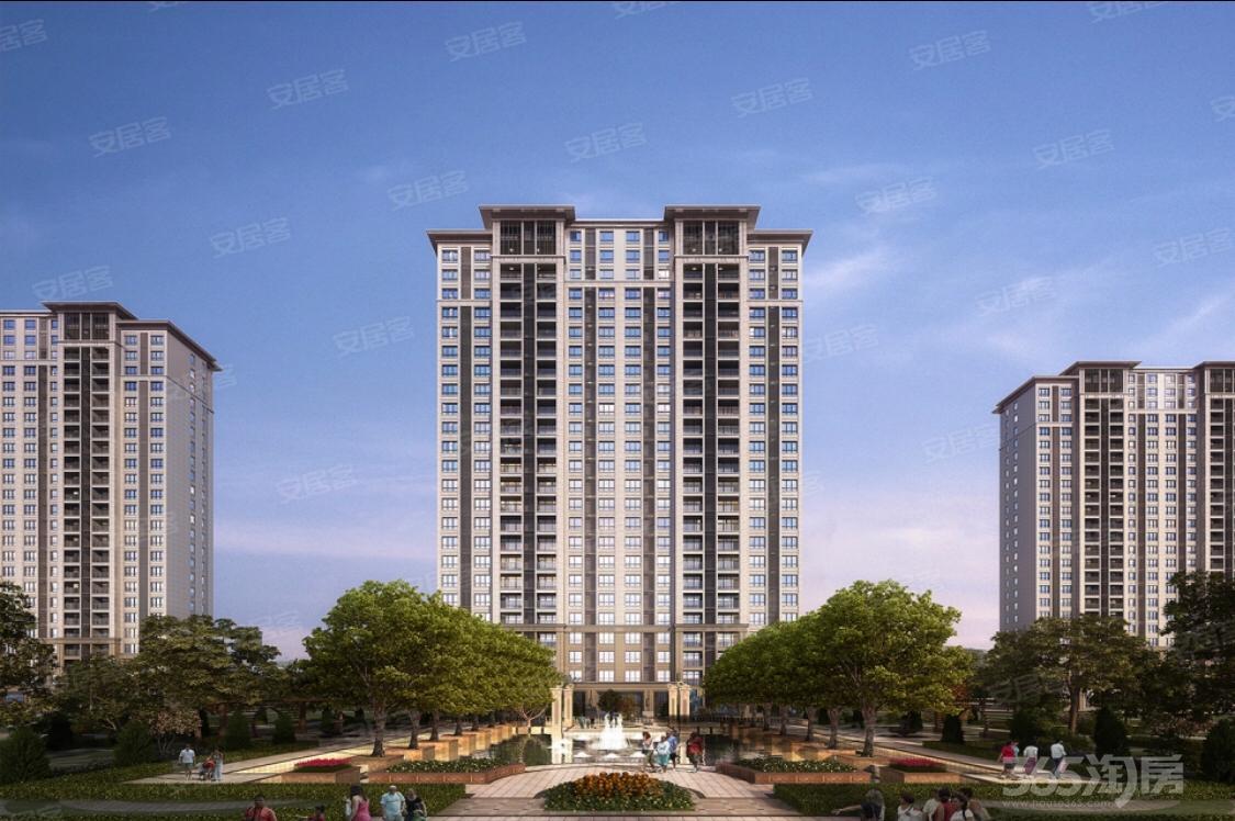 京师国府3室2厅2卫120平米毛坯产权房2018年建