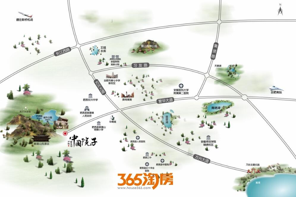 中国院子万振紫蓬湾交通图
