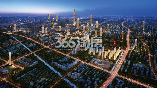 新城荣樾鸟瞰图