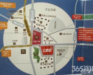 芜湖万达广场漾街沿街商铺,挑高5.4米,50平米赠送50平米