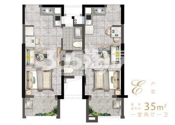 1房2厅1卫