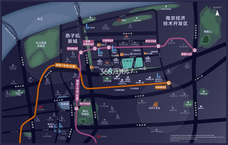 紫樾府交通图