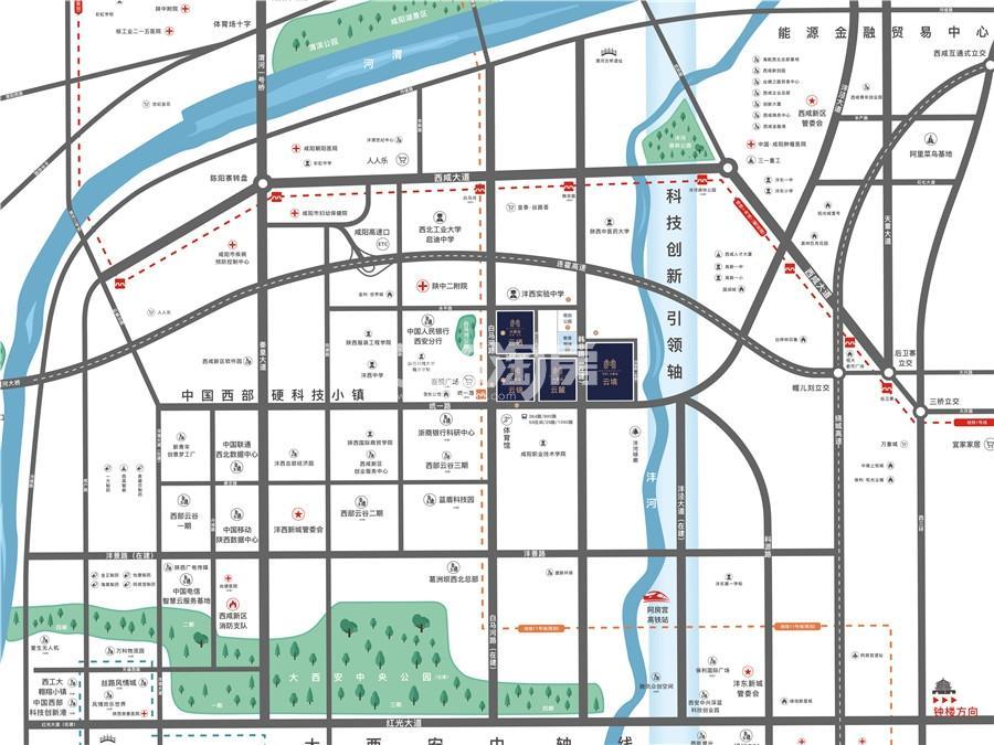 紫薇万科大都会交通图