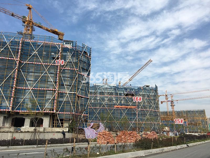中国铁建西湖国际城15-17号楼实景图(2017.11)