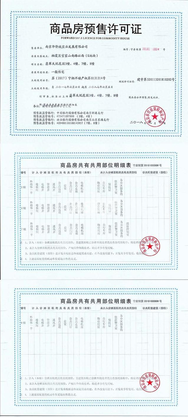 华侨城翡翠天域预售许可证