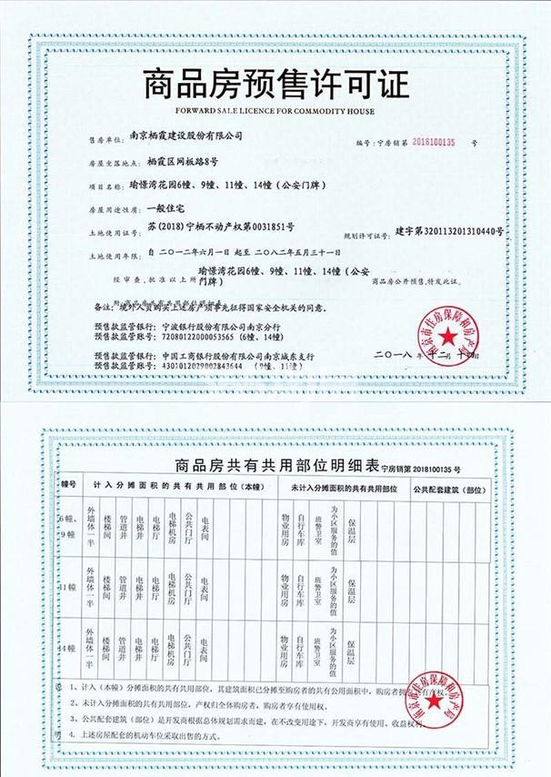 星叶瑜憬湾销售证照