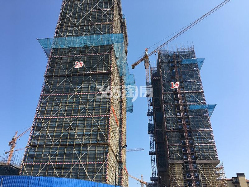 中国铁建西湖国际城1、2号楼实景图(2018.3)