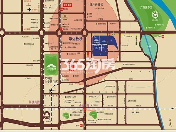 华远海蓝城交通图