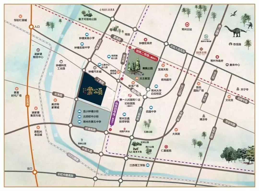 雅居乐·路劲 棠颂交通图