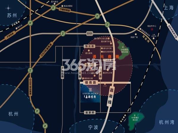 碧桂园嘉南首府交通图