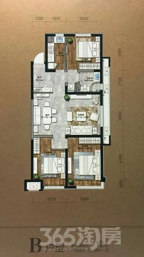 保利大都会3室2厅1卫112平米2017年产权房精装