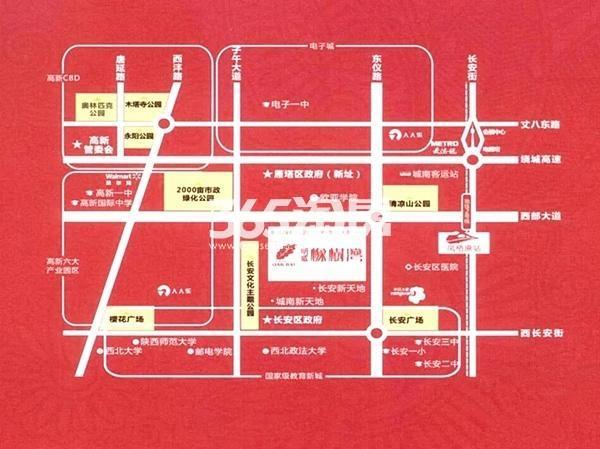 明威橡树湾交通图