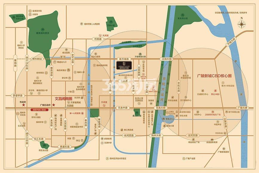 优步花园交通图