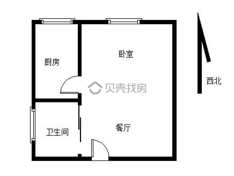 京东紫晶1室1厅1卫42平米2016年产权房简装
