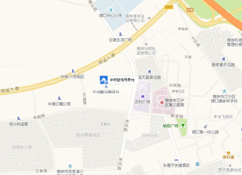 中骏融信雍景台(承露园)交通图