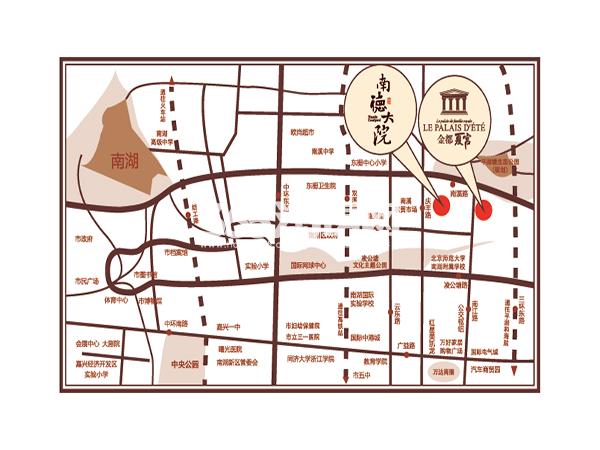 金都·南德大院交通图