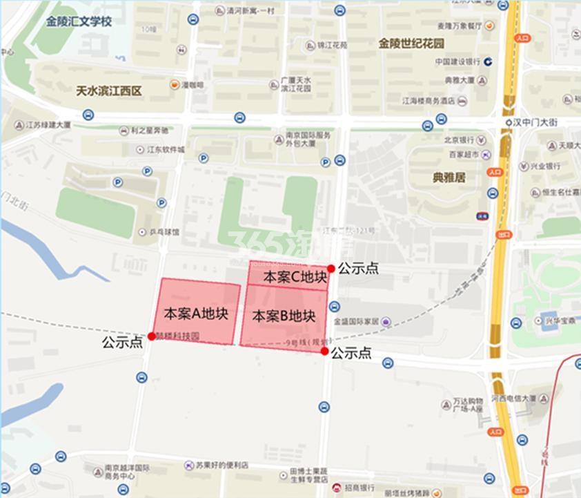 葛洲坝五矿金陵府交通图