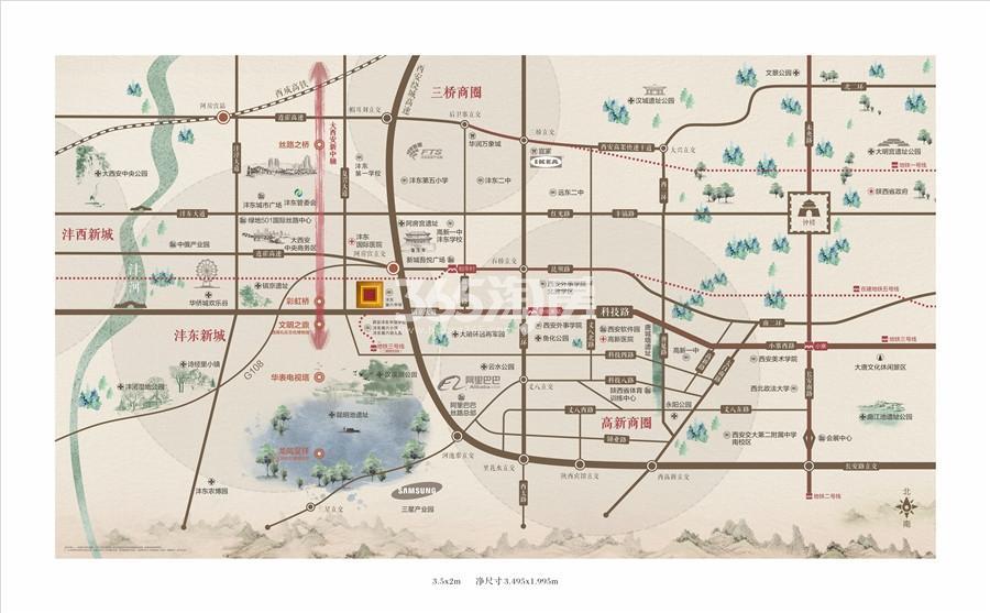 碧桂园国湖交通图