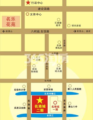 名港城交通图