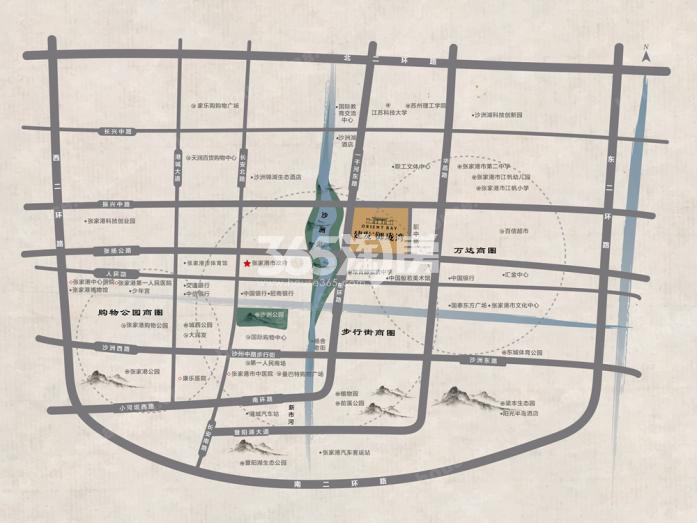建发御珑湾交通图