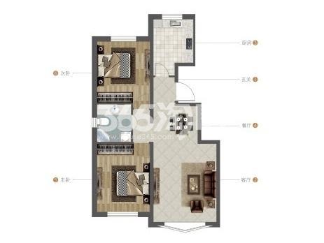 紫荆雅苑两室一厅一卫85.49洋房