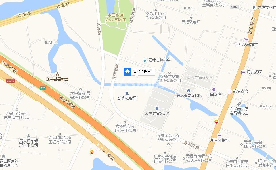 蓝光雍锦里交通图