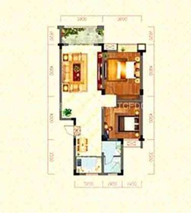 文峰名苑2室2厅1卫90平米毛坯产权房2015年建