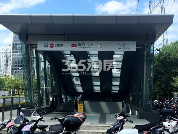 银城东樾府周边配套——地铁一号线塘铁桥站