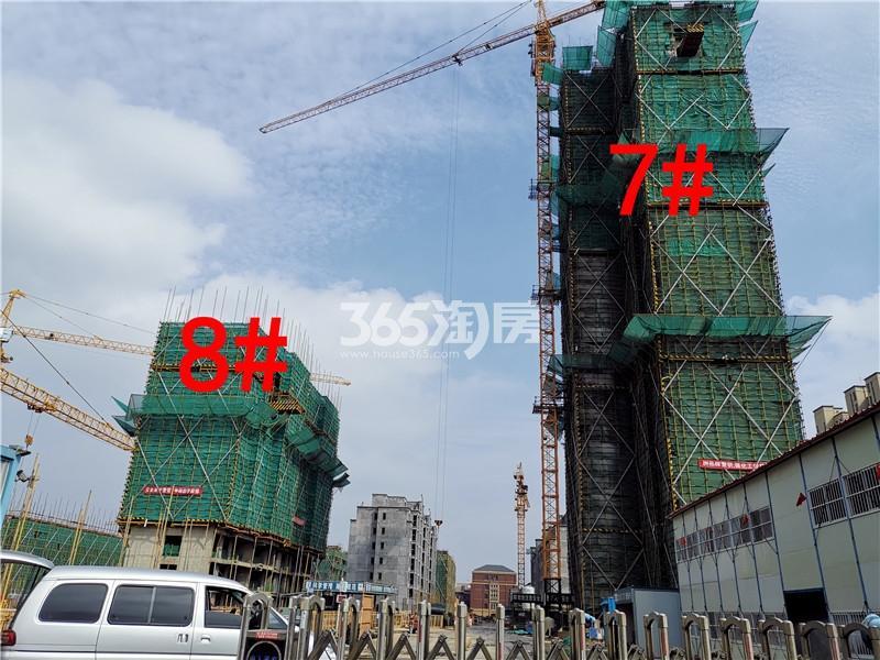绿地理想城悦湖公馆在建7、8#楼实景图(10.16)