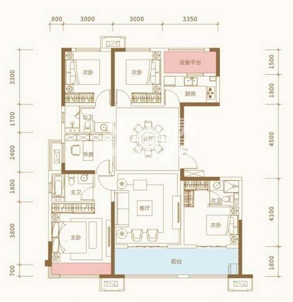 蓝光长岛国际社区雍和D五室两厅一厨三卫