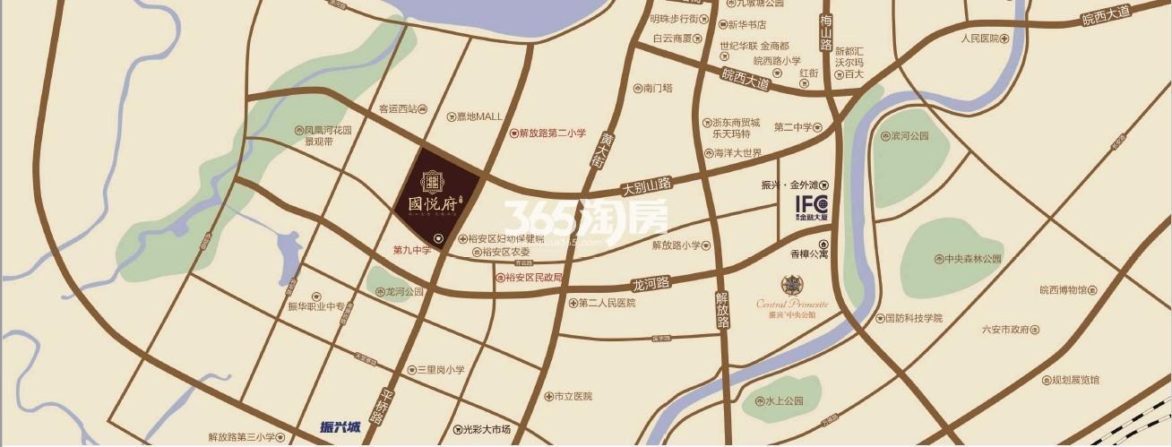 振兴国悦府交通图