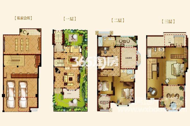 长泰国际社区别墅230平户型图