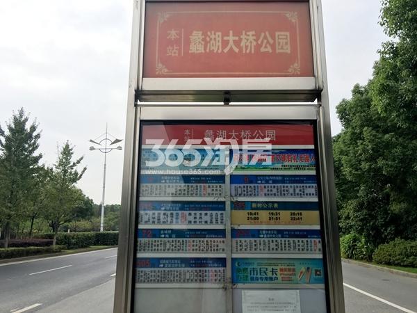 苏宁悦城周边配套——蠡湖大桥公园公交站