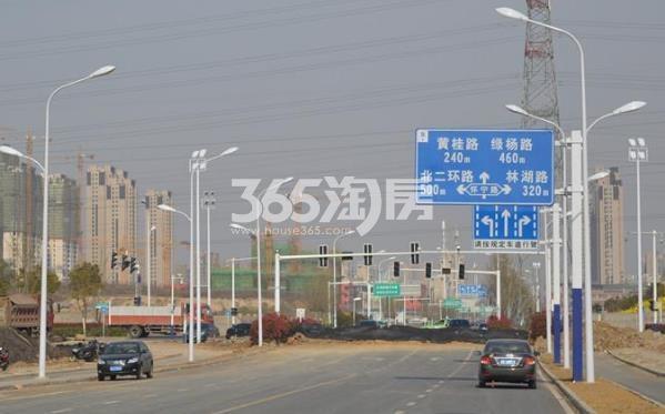 旭辉铂悦庐州府周边路况实景图(2017.11.30)