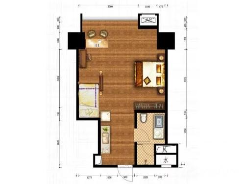 信邦龙湖时代公寓C户型