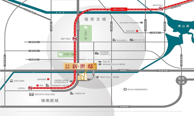 新荣世邸交通图