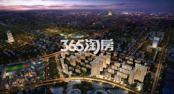 大华锦绣前城鸟瞰图