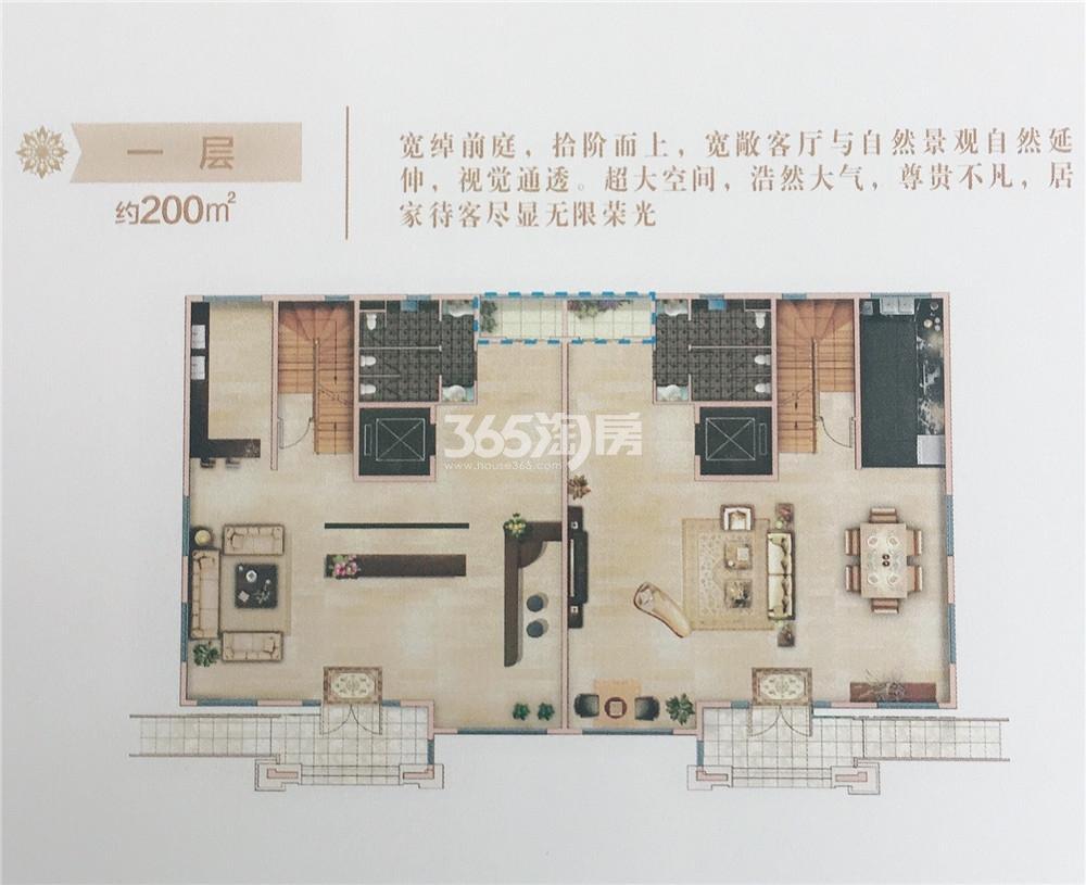 金江春创意科技园别墅户型图一层约200㎡