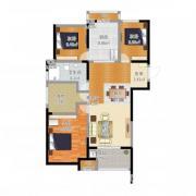 天正理想城3室1厅1卫105�O整租精装