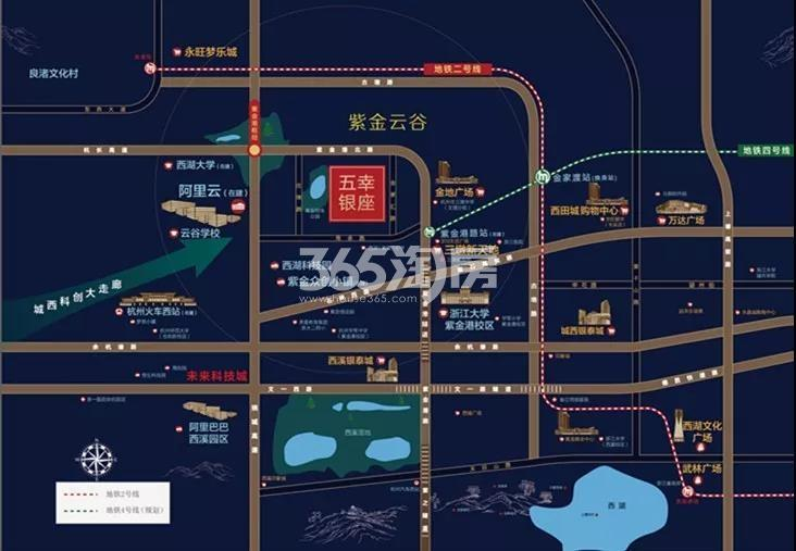 五幸银座项目交通区位图